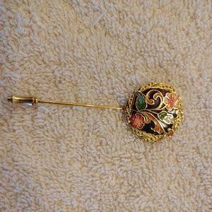 Vintage cloisonne pin